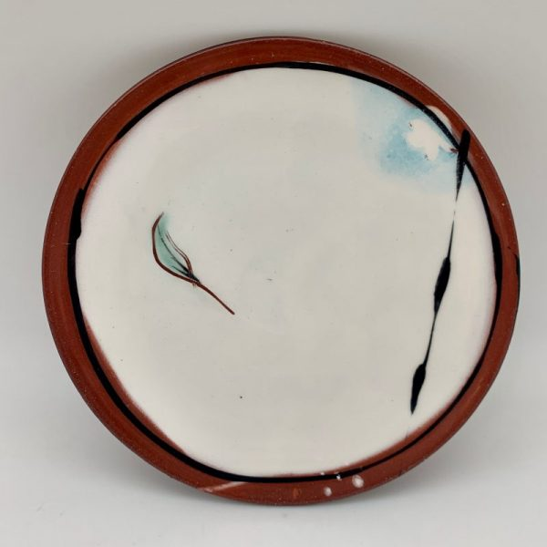 White Terracotta Plate by Victoria Christen