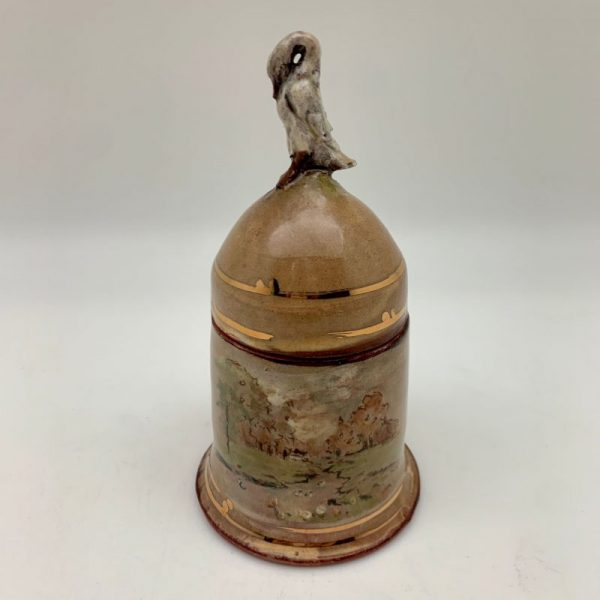 Teracotta Swan Jar by Mary Briggs