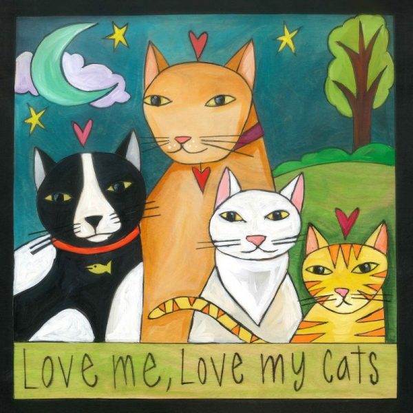 "Meow-zah! 9"" Plaque by Sincerely Sticks"