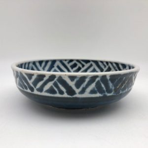 Blue and White Shallow Bowl by Margo Brown