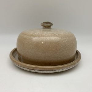 Light Brown Porcelain Butter Dish by Margo Brown