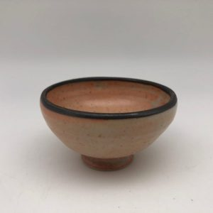 Small Salmon Brown Porcelain Bowl by Margo Brown