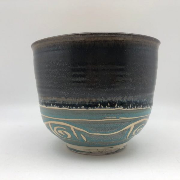 Tall Porcelain Patterned Bowl by Margo Brown