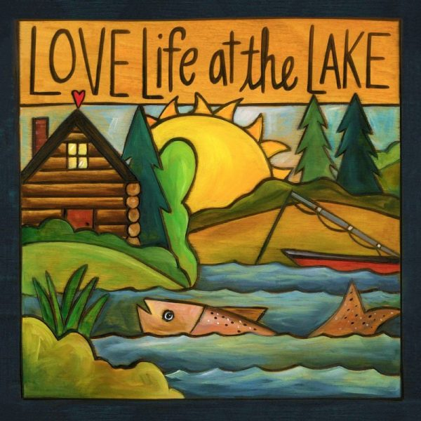 """Gone Fishin' 6"""" Plaque by Sincerely Sticks"""