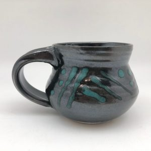 Black Porcelain Mug by Margo Brown
