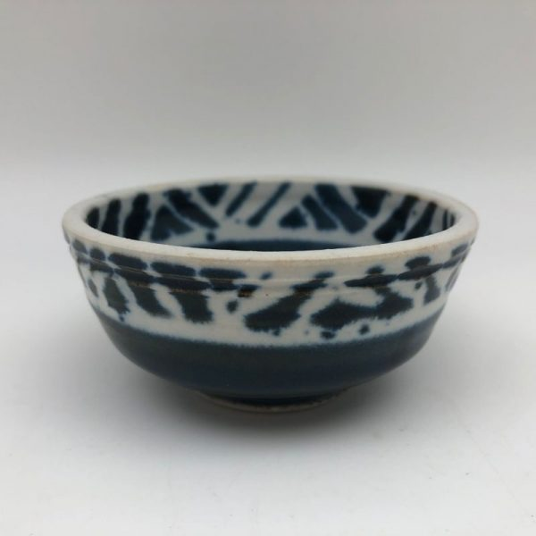Blue and White Patterned Bowl by Margo Brown