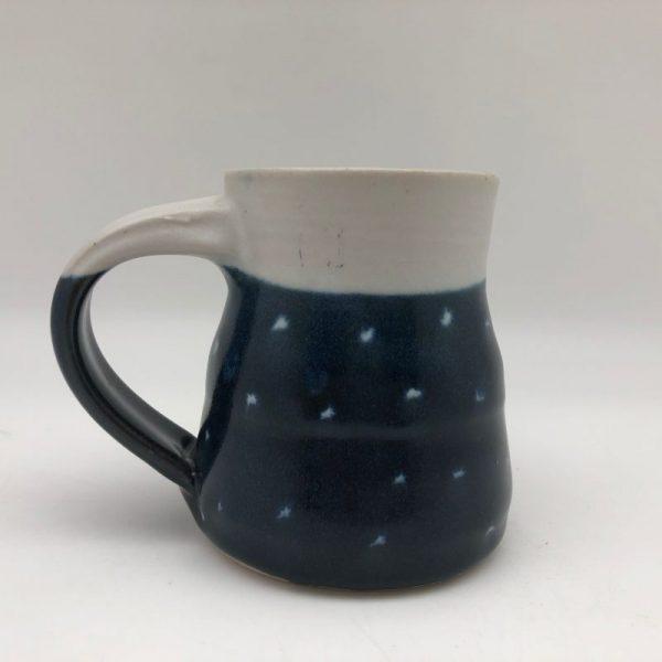 Blue Dotted Porcelain Mug by Margo Brown