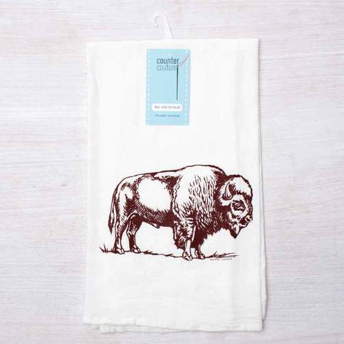 Bison Flour Sack Towel by Counter Couture