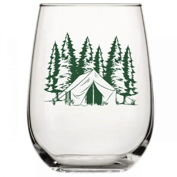 Camping Stemless Wine Glass Counter Couture
