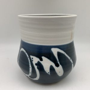 Navy/White Utensil Holder by Margo Brown