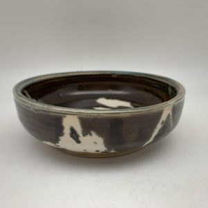 Brown White Small Porcelain Dish by Margo Brown - 1714Small Porcelain Dish by Margo Brown