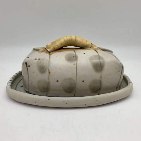Dotted Butter Dish by Delores Fortuna
