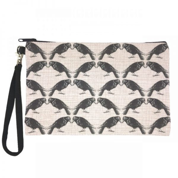 Crow Large Zipper Pouch by Counter Couture