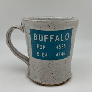 Buffalo Wyoming Population Sign Mug by Stephen Mullins