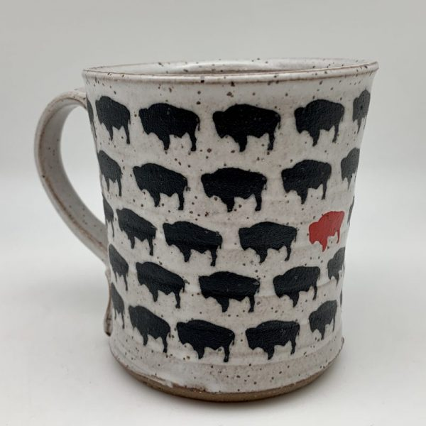 Bison Herd Mug by Red Bison Studio Steve Mullins