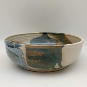 Color-Splashed Porcelain Bowl by Margo Brown