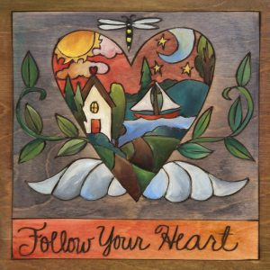 "My Heart's at the Lake 9"" Plaque by Sincerely Sticks"