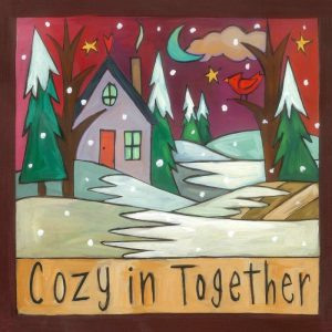 "It's Cozy Time 6"" Plaque by Sincerely Sticks"
