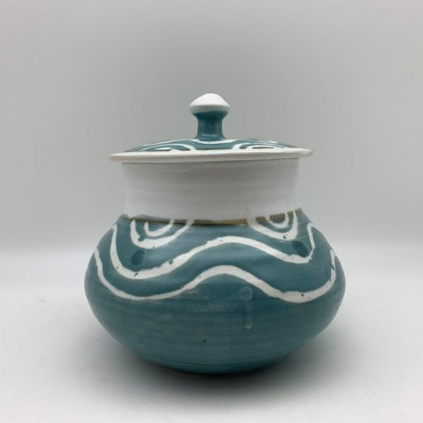 Turquoise and White Jar by Margo Brown