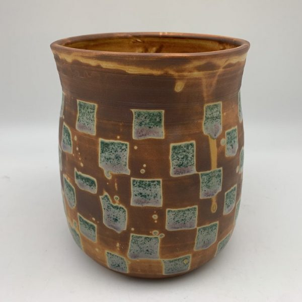 Square Patterned Utensil Holder by Margo Brown