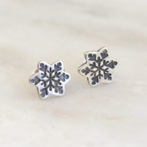 Snowflake Post Earrings by Sarah Deangelo