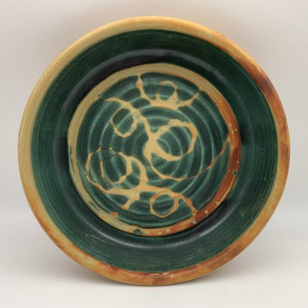 Green and Yellow Pie Plate by Margo Brown