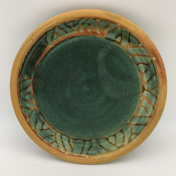Green Patterned Plate by Margo Brown
