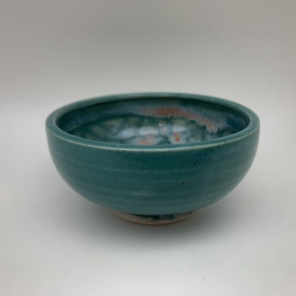 Small Turquoise Patterned Bowl by Margo Brown