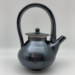 Black Porcelain Teapot by Margo Brown