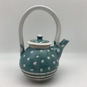 Polka Dot Porcelain Teapot by Margo Brown