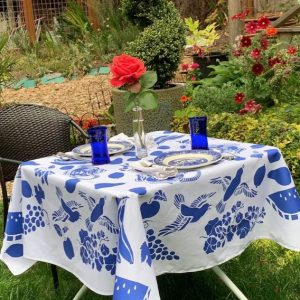 True Blue Teapot Tablecloth by Mim & Poppy