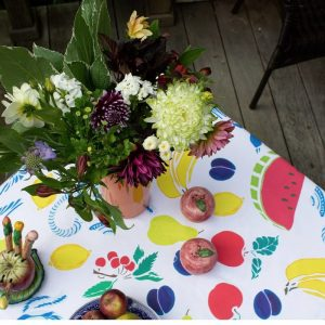 Fruit Basket Tablecloth by Mim & Poppy