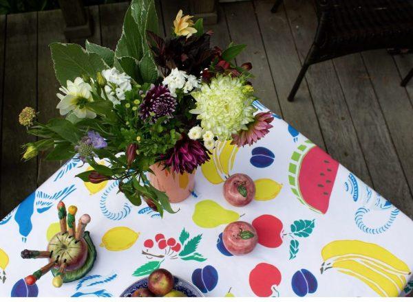 Fruit Basket Tablecloth by Mim & Poppy