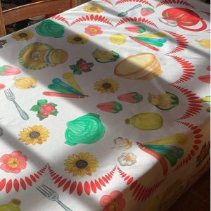 Kitchen Kitsch Tablecloth by Mim & Poppy