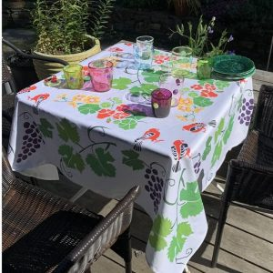 Grape Arbor Tablecloth by Mim & Poppy