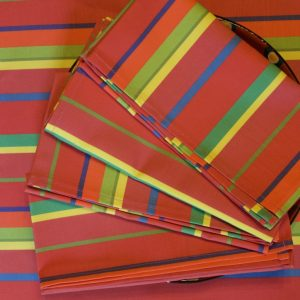 Set of Four Watermelon Stripe Napkins by Mim & Poppy