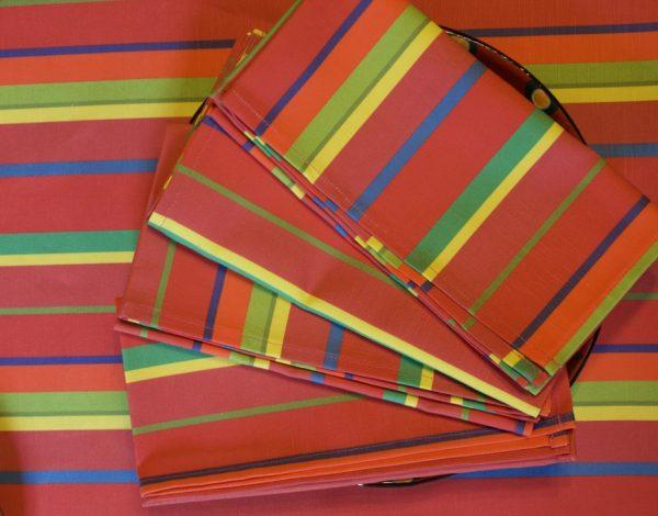Set of Four Watermelon Stripe Napkins by Mim & Poppy