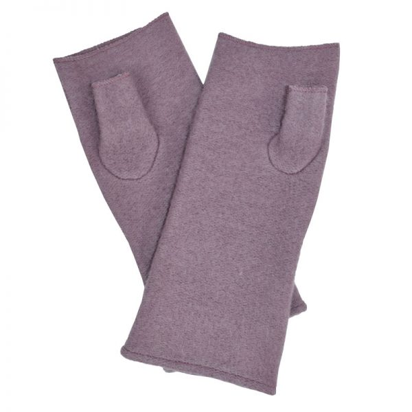 Gayle Fingerless Gloves - Mauve by Dupatta Designs