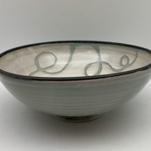 Celadon and White Porcelain Bowl by Margo Brown