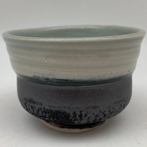 Small Two-Tone Porcelain Bowl by Margo Brown