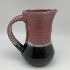 Copper Red and Black Syrup Pitcher by Margo Brown