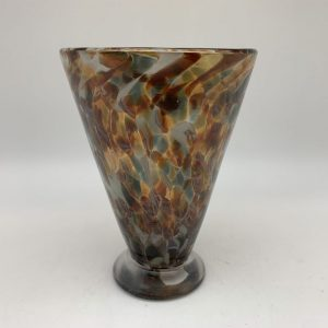 Bright Speckle Cup - Brown/Gray Kingston Glass Studio