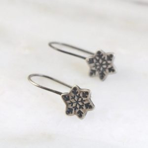 Snowflake Lobe Hugger Earrings by Sarah Deangelo