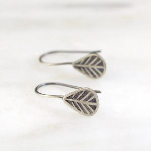Tribal Leaf Lobe Hugger Earrings Sarah Deangelo