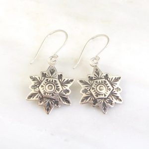 Layered Snowflake Earrings by Sarah Deangelo