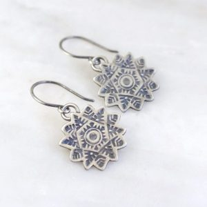 Snowflake Earrings by Sarah Deangelo