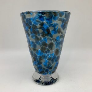 Bright Speckle Cup - Blue/Gray Kingston Glass Studio