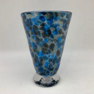 Bright Speckle Cup - Blue/Gray Kingston Glass Studio