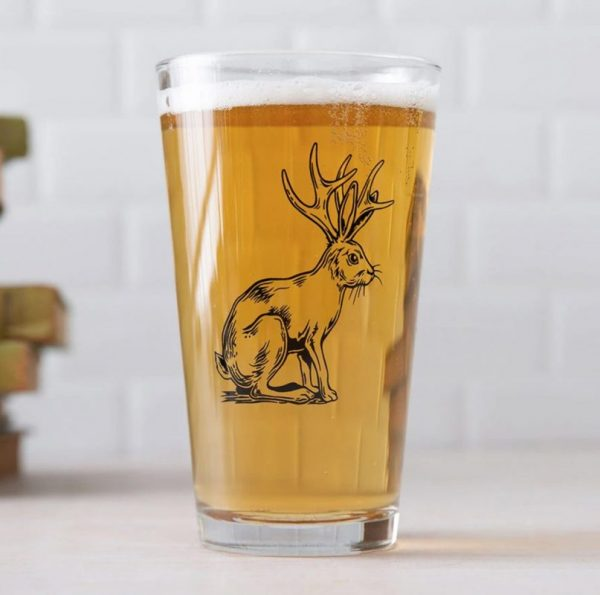Jackalope Pint Glass by Counter Couture