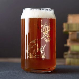 Jackalope Beer Glass by Counter Couture